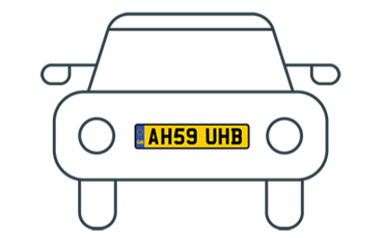vehicle with a foreign numberplate