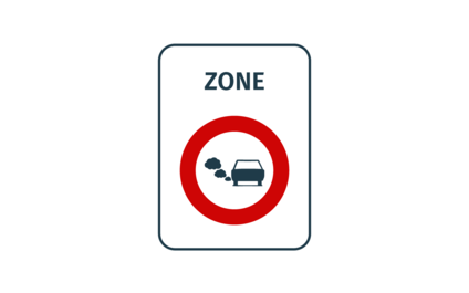 How do you recognise the low-emission zone?